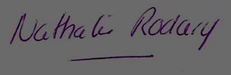 signature nathalie rodary